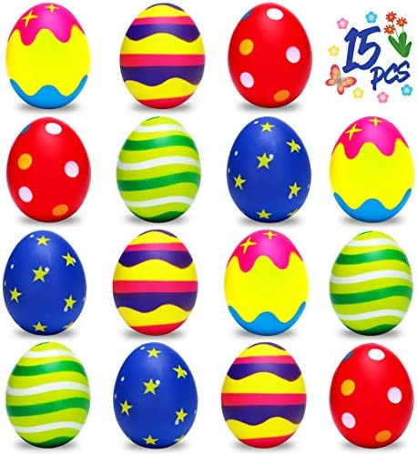 15PCS Squishy Easter Eggs for Egg Hunt Kids Adults Stress Relief Toy Gifts Basket Stuffers Party product image