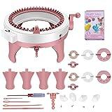 TTLIFE Machine à Tricoter Kit de Machine à Tricoter à Double Couche rotative à 48 Aiguilles à Tricoter avec Compteur de Voyage Métier Circulaire Convient aux Adultes et aux Enfants