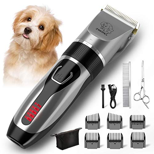 cheap Yabife dog clipper, USB rechargeable grooming kit, electric pet trimmer …