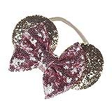 WINZIK Headwear Baby Boys Girls Kids Sequins Bowknot Ears Hairband Birthday Party Favor Princess Headband (Pink)