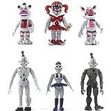 Zhongkaihua Juego de figuras de acción FNAF de 6 piezas, figura de juguete coleccionable de fnaf, Bonnie Foxy Freddy Fazbear Bear Mangle Doll figuras de juguete de acción de 9 a 13 cm