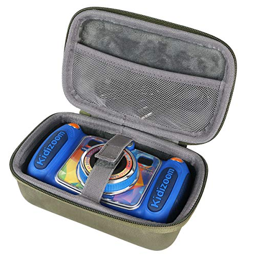 co2CREA Viajar Llevar Fundas Estuche Case para VTech Kidizoom Duo 5.0 cámara de Fotos Digital(Case Only) (Verde)