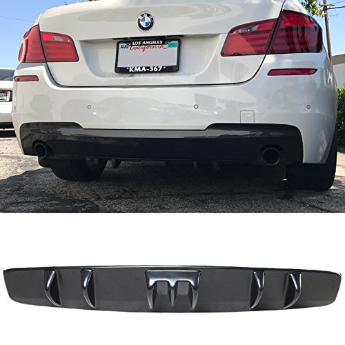 Amazon.com: Rear Diffuser Universal Fitment | V5 Style Unpainted Black ABS Plastic Splitter Spoiler Valance Under Lip Body kit by IKON MOTORSPORTS: ...