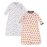 Hudson Baby unisex baby Cotton Long-Sleeve Sleeping Bag, Sack, Wearable Blanket, Foxes, 0-3 Month US