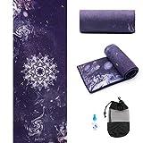 Yoga Towel,Hot Yoga Mat Towel - Sweat Absorbent Non-Slip for Hot Yoga, Pilates