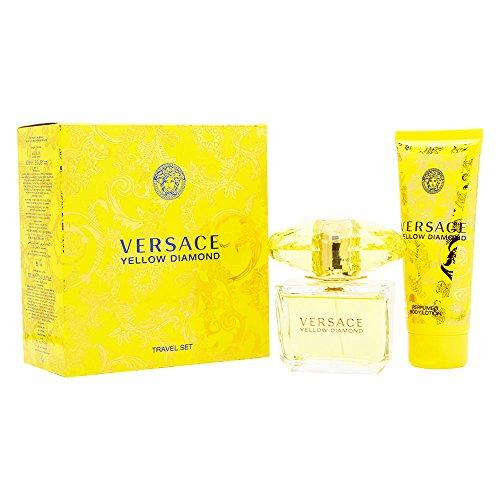 Versace Yellow Diamond 2 Piece Gift Set For Women (Eau De Toilette Spray, 3 Ounce + Body Lotion, 3.4 Ounce)