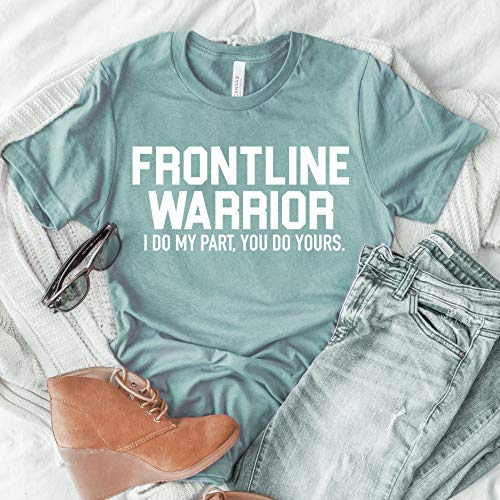 frontline warrior shirt essential worker healthcare shirt cute nurse t-shirt gift idea for nurse quarantine nurse hero shirt