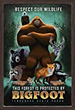 Tennessee State Parks - Bigfoot 106208 (24x36 Giclee Art Print, Gallery Framed, Espresso Wood)