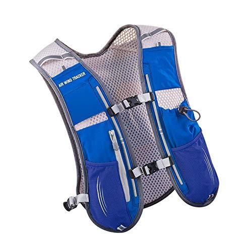 Mochila de hidratación al aire libre 5l con vejiga 1.5l para acampar senderismo azul lago azul
