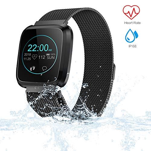 VIFLYKOO Fitness Tracker,Orologio Fitness Cardiofrequenzimetro da Polso Impermeabile IP67 Smart Watch Pedometro Donna Uomo Activity Tracker Cardio per iPhone Huawei Android iOS Smartphone