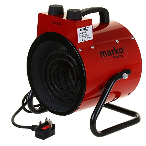 Marko Heating Industrial Workshop Heater Electric Space Heater Fan Garage Shed Thermostat Control Round Tilting… (2000W)