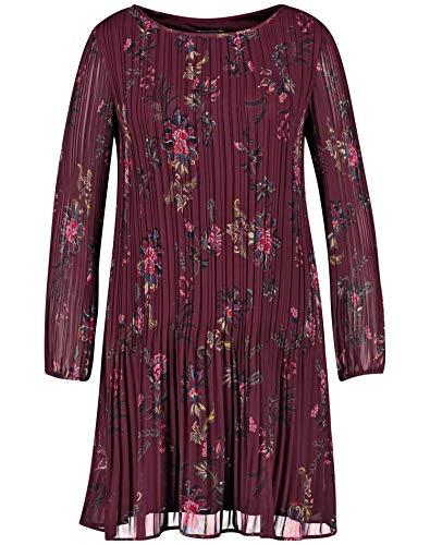 Samoon 380007-21404 Vestido, Multicolor (Dark Cherry Gemustert 6062), 56 (Talla del Fabricante: 54) para Mujer