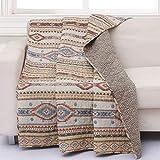Barefoot Bungalow Phoenix Throw Blanket, 50x60-inch, Tan