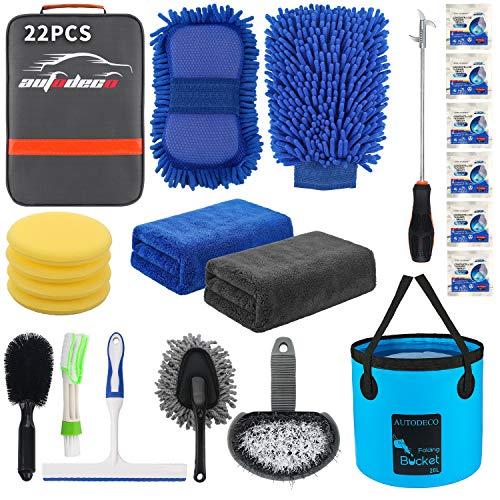 AUTODECO 22Pcs Car Wash Cleaning Tools Kit Car Detailing Set