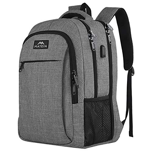 MATEIN Laptop Backpack 17.3 Inch Large Anti-Theft Backpack with USB Charging...