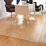 JLXJ Office Chair Mat for Hardwood Floor, Carpet Protector, Transparent Plastic Non-Skid Waterproof Rug Runner, Can Be Cut (Size : 120×250cm(4ft×8ft))