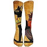 Antiguo Mystic Papyro Egipto Calcetines deportivos unisex de algodón para correr, calcetines de fútbol