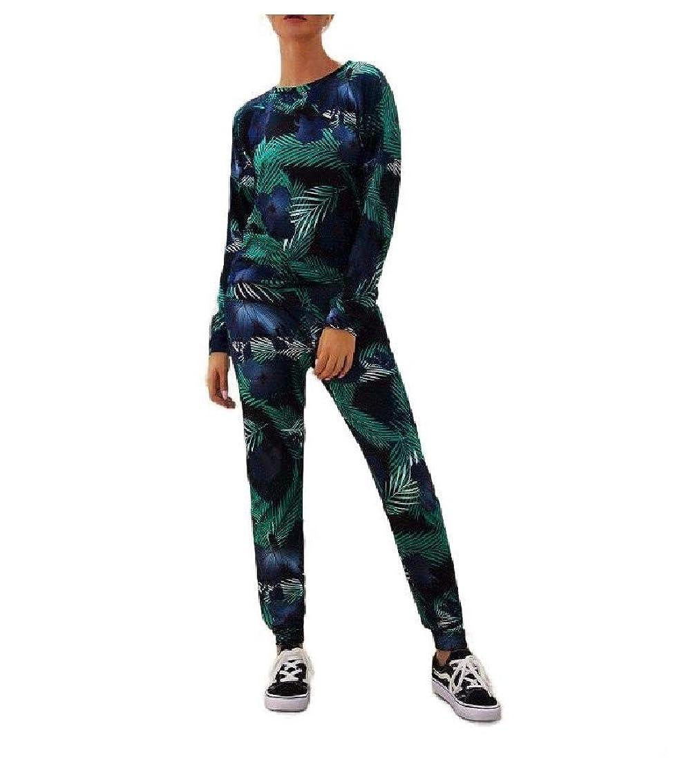占めるソフトウェア人形女性ファッションジャンプスーツロングスリーブトップとジョガーパンツ2ピースセット
