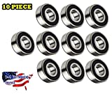 Jeremywell 10-Pieces 6206 2RS, C3 Fit Premium Radial Ball Bearing 30x62x16mm, Rubber Sealed Deep Groove