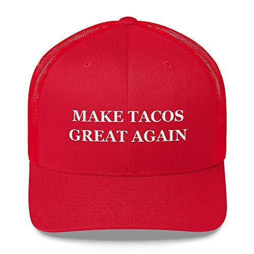 Texas Swagger Make Tacos Great Again Trucker Hat Funny Meme Hat MAGA Hat Satire Cap Taco Cap Red