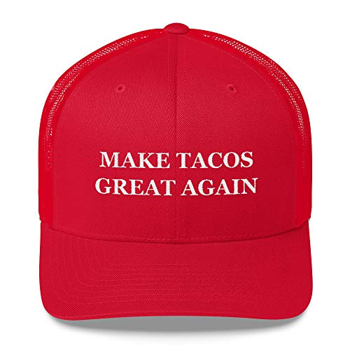 Texas Swagger Make Tacos Great Again Trucker Hat Funny Meme Hat MAGA Hat Satire Cap Taco Cap Red