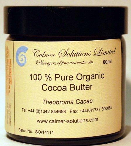 Calmer Solutions 100% Puro Burro di Cacao Organico 60ml Barattolo