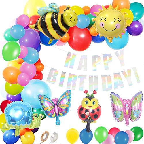 Sunshine smile Bienenballon, Biene Geburtstag Deko,Kindergeburtstag Dekoration,Happy Birthday Banner,Happy Birthday Luftballons,Konfetti Luftballons,Party Deko (Biene)