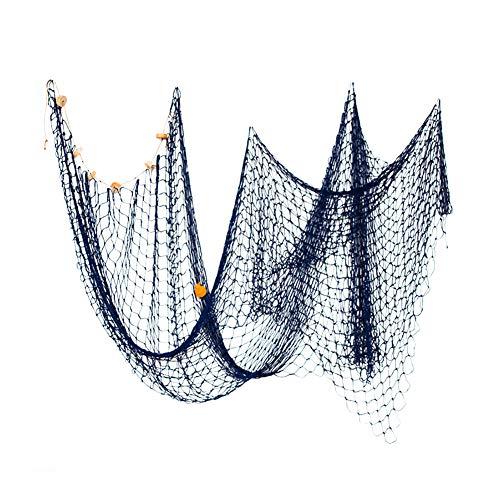 Deanyi Pesca náutica decoración Red de Pesca Red Temática colgados en la Pared de la decoración de Estilo Mediterráneo mar de fotografía Red de Pesca (Azul)