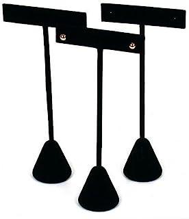 """FindingKing 3 Black Velvet Earring T Stand Showcase Displays 5.75"""""""