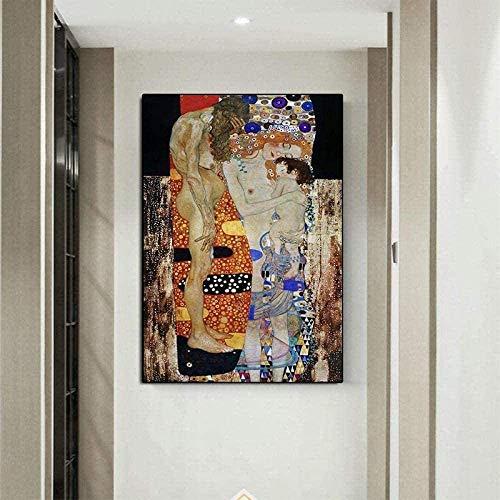Rompecabezas de los niños Puzzles Adultos 1000 unidades Las tres edades de la mujer de Gustav Klimt Pintura al óleo de madera abstracto del rompecabezas de rompecabezas por Living Room Decor Vaivén