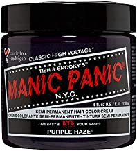 Manic Panic Purple Haze Hair Dye - Classic High Voltage - Semi Permanent Hair Color - Warm, Dark Purple Shade - For Dark & Light Hair - Vegan, PPD & Ammonia Free - For Coloring Hair on Women & Men