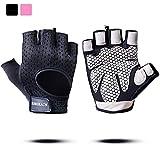 BOBURACN WorkoutGloves forWomen Men,Weight LiftingGlovesforFitness,Exercise,Climbing,Dumbbells,Breathable&Non-SlipPaddedGym Gloves