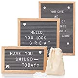 Letterboard mit 340 Buchstaben (3x Größen zur Auswahl 25x15 25x25 30x45) Buchstabenbrett...