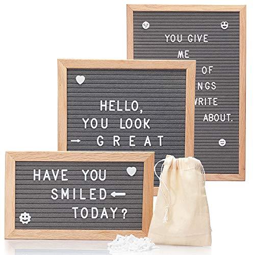 Letterboard mit 340 Buchstaben (3x Größen zur Auswahl 25x15 25x25 30x45) Buchstabenbrett Rillentafel Holztafel Pinnwand ideal für Sprüche Menüs Einkaufsliste Letter-Board Nachrichten Buchstabentafel