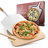 Liebspecht® Hochwertiger Pizzastein und Pizzaschieber [GRATIS BÜRSTE] - geeignet...