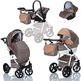 LCP Kids 3in1 Kombi Kinderwagen Lucato Luftreifen Komfort mit...