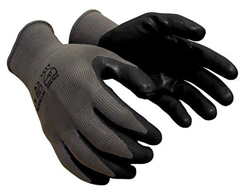 X-Large Pack of 240 Pairs Gray Azusa Safety N10559 13 gauge Seamless Knit Nylon Safety Gloves Polyurethane PU Coated