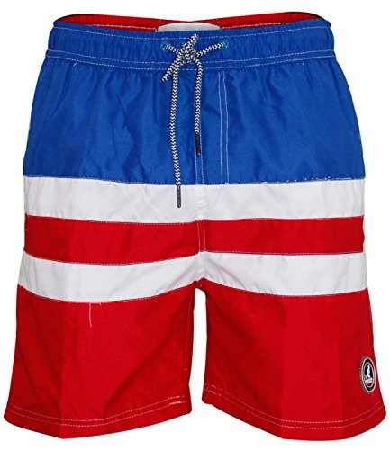 Kangol Mens Swim Mesh Line Shorts Red S