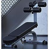 zcyg Banco de Pesas Plegable Se incorpora el AB Bench, Pesa Banco del músculo Abdominal de formación a Bordo Equipo Multifuncional Ajustable Banco del músculo Abdominal