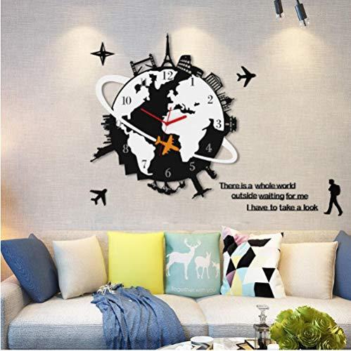 Ziruixiong 1.1 Globus Wanduhr Wohnzimmer Kunst Dekoration Uhr Schlafzimmer Stille Uhr 48 * 54 Cm