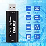 IPXOZO Audio Video Capture Card, USB 3.0 HD 1080P Capture Adapter Directly to Computer for Gaming, Streaming, Teaching, Video Conference or Live Broadcasting, Supports PC, Phone, PS4, Xbox