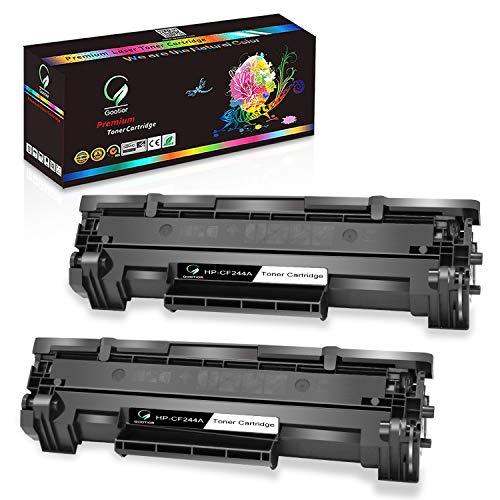 Gootior Image Cartucce Toner Compatibili per HP CF244A 44A Con Chip per HP LaserJet Pro M15a, M15w, MFP M28w MFP M28a Stampante Nero 2 Pack