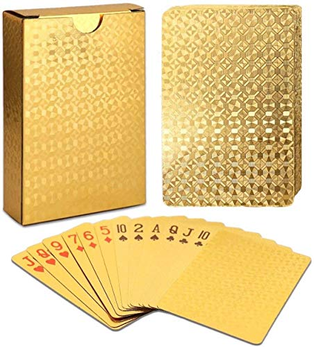 Luxury Waterproof Playing Cards Gold Foil Poker Cards Playing Cards Plastic Playing Cards (Multicolour)
