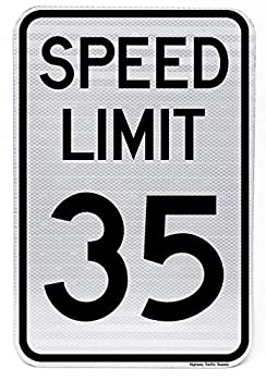 Speed Limit 35 MPH Sign 24 x30  3M Engineer Reflective by Highway Traffic Supply.