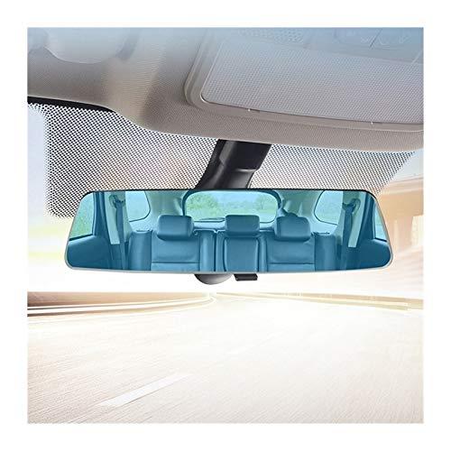 BENGKUI WUWENJIE Espejo retrovisor sin Marco de Pantalla Completa de la Pantalla Completa del automóvil, Gran Campo de Vista, Espejo retrovisor antirreflejo panorámico (Color Name : Blue)