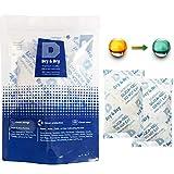 Dry & Dry 100 Gram [12 Packs] Silica Gel Food Safe Orange Indicating(Orange to Dark Green)...
