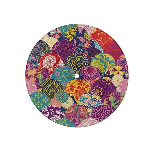 Posavasos de Disco para Bebidas,Bohemia,Colorido,Vintage,Boho,Mandala,patrón Floral étnico Indio,Trible,Absorbente,6 Piezas,Posavasos de Disco,protección eficaz,Escritorio