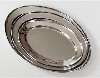 3 Pc. Stainless Steel Oval Serving Set 14 In, 16 In, 18 In