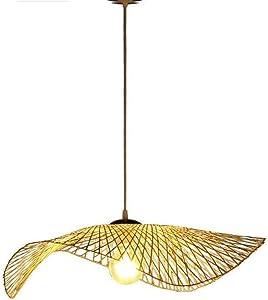 Creativo Colgante de luz, Moderno Sudeste Asiatico Tejidas a mano Arañas de bambú Zen, Restaurante Hueco de escalera tienda Art Decorativo Lámpara colgante, la Colgante Luces de techo, E27, (Ø35cm)