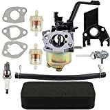 Dalom 6.5HP 196cc Carburetor Air Filter Fuel Shut Off Valve for Generac GP3250 Generator All Power America Powermate BlackMax DuroMax XP3500 XP4400 MX4500 DuroStar DS4000S DS4400 DS4400E DS4400S